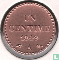France 1 centime 1849