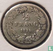 België ½ franc 1834 (gewone horizontale streep van 4)