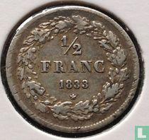 België ½ franc 1833