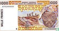 West Afr. Stat. 1000 Francs K