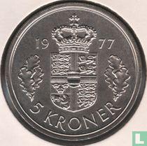Denemarken 5 kroner 1977