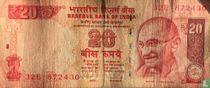 India 20 Rupees 2013 (R)