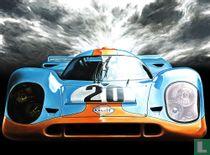 Porsche 917 Gulf Steve McQueen Le Mans 1970 Hand Signed by Artist Print