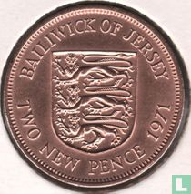 Jersey 2 new pence 1971