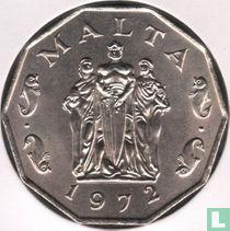 Malta 50 cents 1972