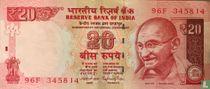 India 20 Rupees 2015
