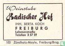 Badischer Hof - Berta Koch