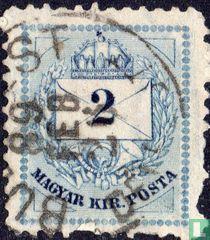Brief, kroon en posthoorn