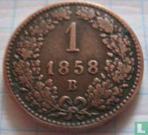 Austria 1 kreuzer 1858 (B)