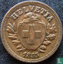 Zwitserland 1 rappen 1853 (Breed kruis)