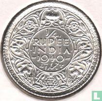 Brits-Indië ¼ rupee 1940
