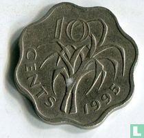 Swaziland 10 cents 1995