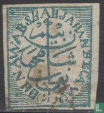 Zegel, met H.H.NAWAB SHAHJAHAN BEGAM