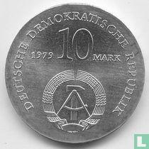 """DDR 10 mark 1979 """"175th anniversary Birth of Ludwig Feuerbach"""""""