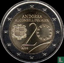 "Andorra 2 euro 2014 ""20th Anniversary of the entry of the Principality of Andorra to the Council of Europe"""