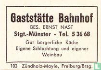 Gaststätte Bahnhof - Ernst Nast