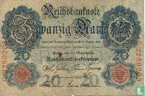 Reichsbanknote, 20 marks 1906 (P25b)