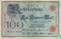Reichsbanknote, 100 Mark 1907