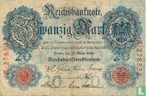 Reichsbanknote, 20 marks 1906 (P25a)