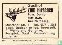 Gasthof Zum Hirschen - Fam. Dorner