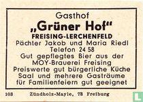 "Gasthof ""Grüner Hof"" - Jakob und Maria Riedl"