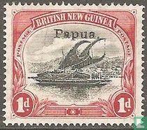 Lakatoi-opdruk Papua