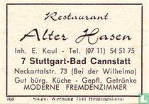 Restaurant Alter Hasen - E. Kaul