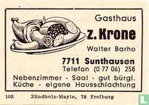 Gasthaus z. Krone - Walter Barho