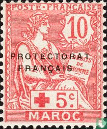 Type Mouchon, with overprint