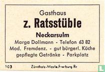 Gasthaus z. Ratsstüble - Marga Dollmann