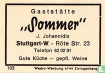 "Gaststätte ""Sommer"" - J. Johannidis"