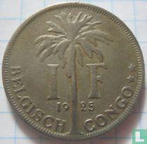 Belgisch-Kongo 1 franc 1925 (NLD)