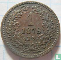 Hongarije 1 krajczar 1879