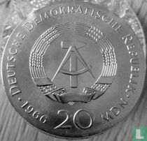 """DDR 20 mark 1966 """"250th anniversary Death of Gottfried Wilhelm Leibniz"""""""