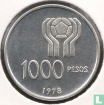 """Argentina 1000 pesos 1978 """"Football World Cup in Argentina"""""""