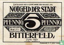 Bitterfeld, Stadt Pfennig 5 June 1921