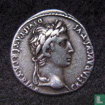 Romeinse Rijk, AR Denarius, 2 BC-14 AD, Augustus, Lugdunum