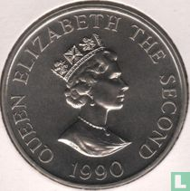 "Alderney 2 pounds 1990 ""90th Anniversary of the Queen Mother"""
