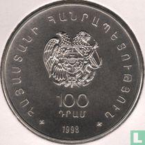 """Armenien 100 Dram 1998 """"WWF - Armenian silver seagull"""""""