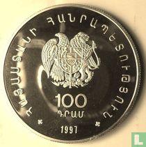 """Armenië 100 dram 1997 (PROOF) """"WWF - Caucasian otter"""""""