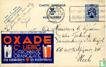 Postcard with advertising