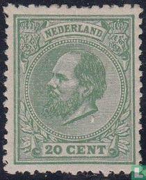 Koning Willem III (K12½ kleine gaten)