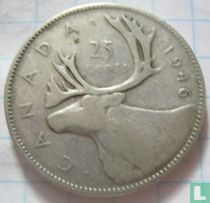 Canada 25 cents 1946