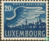 Vleugel en stad Luxemburg