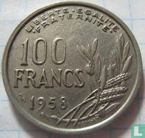 Frankrijk 100 francs 1958 (met B)