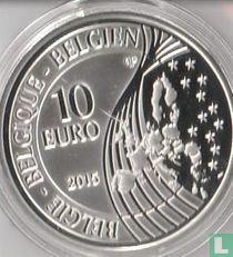 "Belgium 10 euro 2015 (PROOF) ""200th Anniversary of the Battle of Waterloo"""