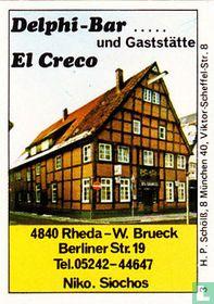 Delphi-Bar und Gaststätte El Greco - W. Brueck