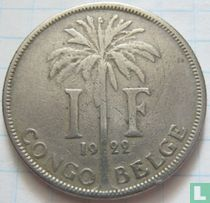 Belgisch-Kongo 1 franc 1922 (FRA)