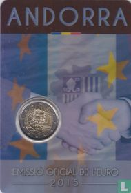 "Andorra 2 euro 2015 (coincard - Govern d'Andorra) ""25th anniversary of the Signature of the Customs Agreement with the European Union"""