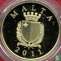"""Malta 50 euro 2011 (PROOF) """"The Phoenicians in Malta"""""""